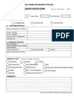 Enquiry Review Form