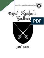 Rapier Marshal's Handbook