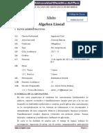 SILABUS ALGEBRA LINEAL CIVIL (1)