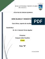 BIOMETRIA HEMATICA caso clinico