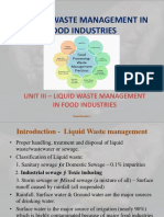 Liquid Waste Management in Food Industries
