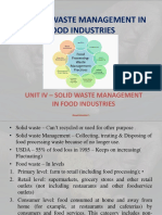 Solid Waste Management in Food Industries