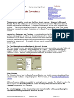 Instructions for Fixed Assets