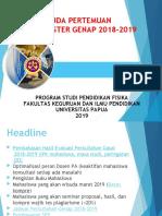 AGENDA PERTEMUAN MAHASISWA PERKULIAHAN SEMESTER GENAP 2018-2019.pptx