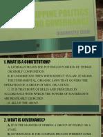 Philippine politics and governance diagnostic