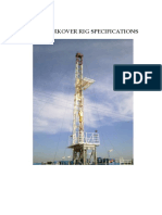 K-100 WORKOVER RIG SPECIFICATIONS