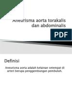 Aneurisma Aorta Torakalis Dan Abdominal Is