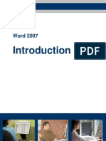 Word2007 Introduction