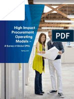 High Impact Procurement Operating Models