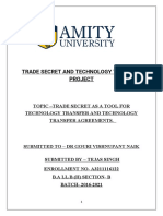 TRADE SECRET AND TECHNOLOGY TRANSFER PROJECT.docx