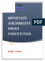 Amendments to Indian Constitution