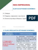 EE RA3 - FLUXO CIRCULAR DA ACTIVIDADE ECONÓMICA