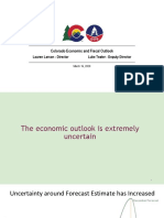 Colorado Economic and Fiscal Outlook March 2020