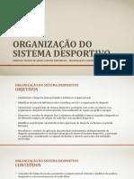 Organização do sistema desportivo