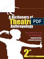 A dictionary of a theatre anthropology