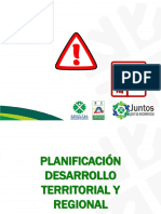 PLANIFICACION DESARROLLO TERRITORIAL Y REGIONAL