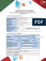 Guía de actividades y rúbrica de evaluación del curso - Fase 2 - Delimitación