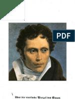 Schopenhauer A, Ueber die vierfache Wurzel des Satzes vom zureichenden Grunde