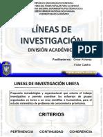 LINEAS DE INVESTIGACIÓN 2018