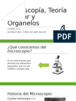 Microscopía, Teoría Celular y Organelos