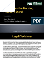 Altos Research Fall 2010 Webcast - When Does the Housing Recovery Start