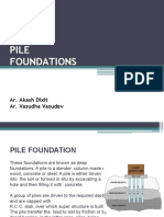 PILE FOUNDATIONS - SDCA-AD, VV