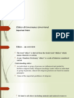 Ethics &Goverance-Overview