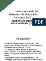 Kotak Life Insurance (Kotak Mahindra Old Mutual