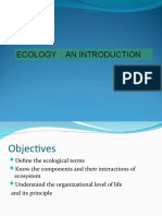 Lecture 1 Introduction to Ecology