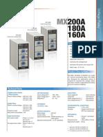 Mikro MX200A, 180A, 160A Voltage Relay
