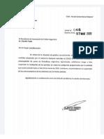 Carta del Ministro de Turismo y Deportes al titular de la AFA