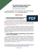 Alterações Legislativas de 2019 - Atualizada até 09.06