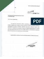 Carta del Ministro de Turismo y Deportes al titular de la Superliga