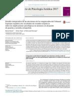 Estudio comparativo de las decisiones de los magistrados del TSE y los resultados de estudios empíricos