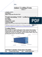Container loading Instructions