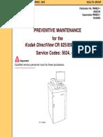 Kodak DirectView CR-825,850 - Preventive maintenance instructions.pdf