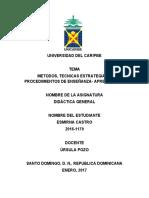 Unidad 5 de didactica general