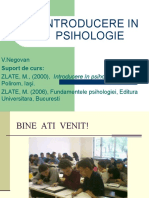 Curs 1 introducere in psihologie an I