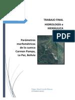 Conde 2017_parametros cuenca Carmen Pampa