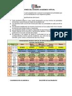 Cronograma de Actividades Virtuales Seccion Bachillerato
