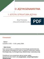 1_Wstęp, Istota i struktura języka_1S(1)