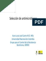 Seleccion de Antimicrobianos