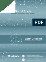 SocialBlaze PPT
