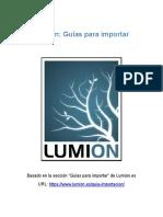 Lumion-Guías para importar