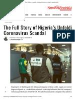 The Full Story of Nigeria's Unfolding Coronavirus Scandal - NewsWireNGR