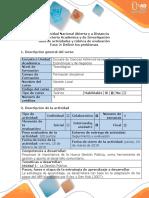 Guía de actividades y rúbrica evaluación - Fase 2 - Definir los problemas