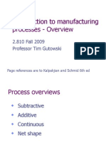 Introduction to Manufacturing Process