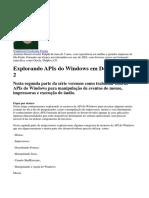 Desenvolvento APIs do Windows em Delphi