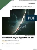 Coronavirus Una Guerra Sin Soldados
