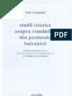 Ioan Caragiani - Studii istorice asupra aromânilor din Peninsula Balcanică